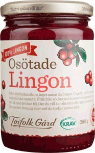 Lingonberry unsweetened